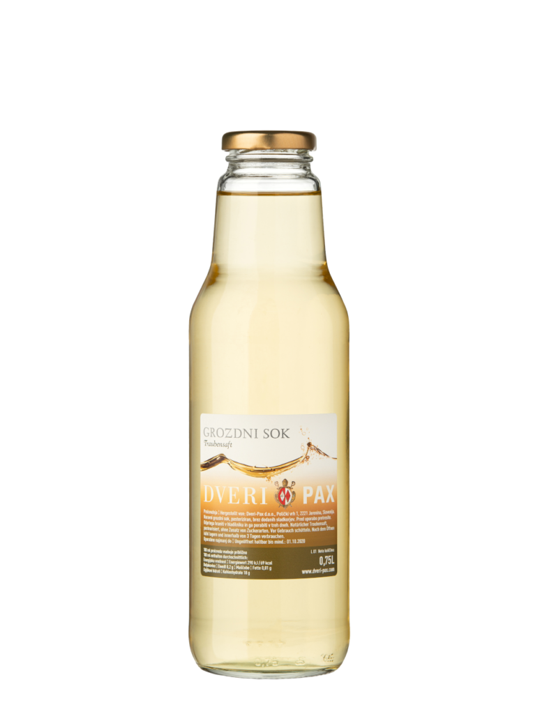Natural white grape juice
