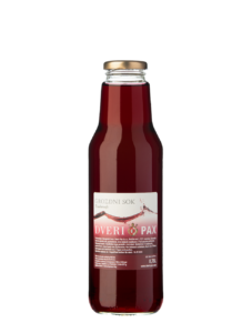 Natural red grape juice