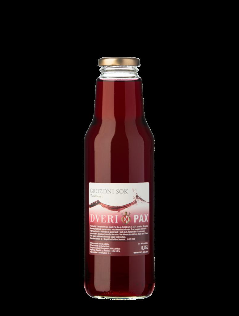 Natural red grape juice